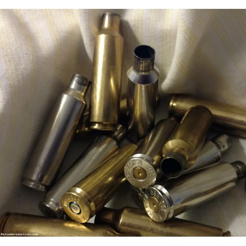 (100+) Count,300 WSM Brass, Once-Fired, Nickel & Brass, FREE Shipping.