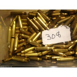 308 fired brass - 125 count