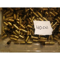 40 cal fired brass 2000 count