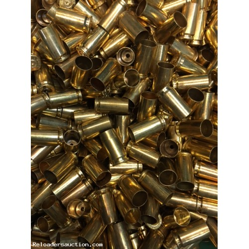 500 x .40 S&W Polished unprocessed once fired brass
