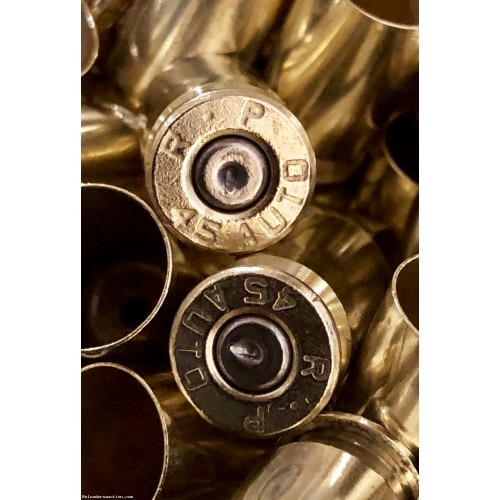 45 Auto Once Fired Brass Casings