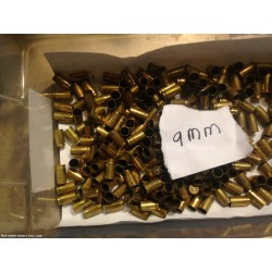 9 mm fired brass 3000 count