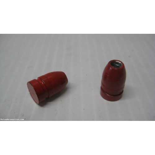 .356 9mm 130gr. HP Lead cast RED Powder Coated Bullets 250pk