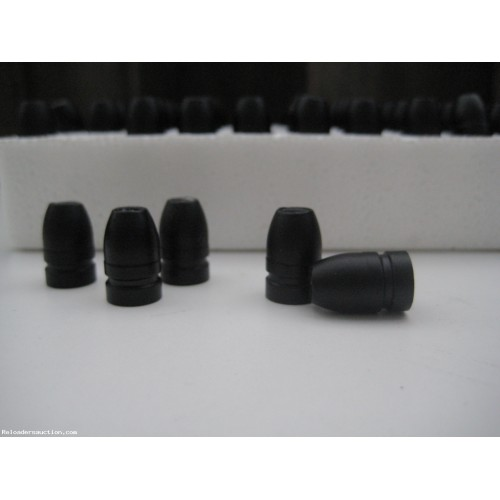 .356 9mm 130gr. HP Lead cast BLK Powder Coated Bullets 250pk