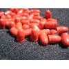 .356 9mm 130gr. RN Lead cast RED Powder Coated Bullets 100pk