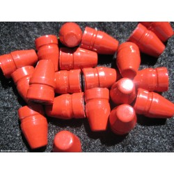 .356 9mm 125gr. TC Lead cast Red Powder Coated Bullets 100pk