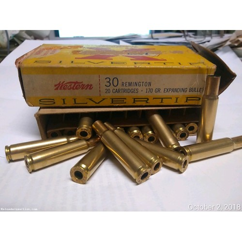 20 pcs 30 Remington Brass Boxed Clean Brass not available on gunbroker