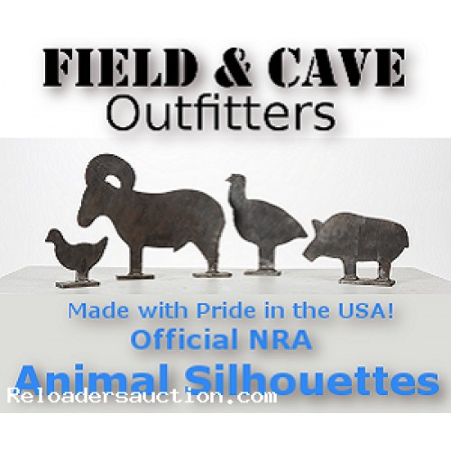 NRA Animal Silhouettes Set of 4