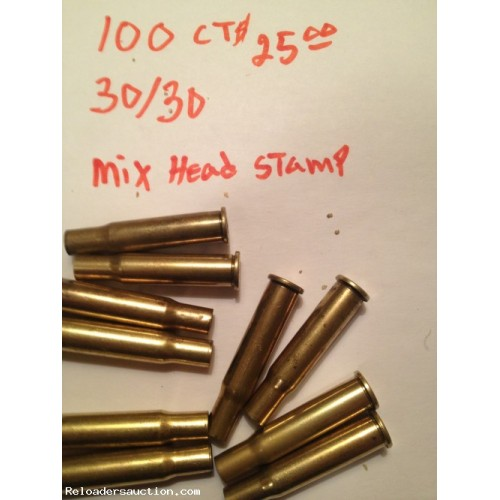 30-30 fired brass - 100 count (T)