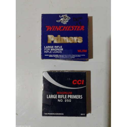 Large rifle magnum primers (Winchester, CCI)